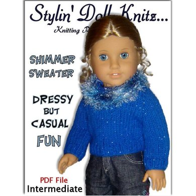 Shimmer Sweater, Fits American Girl and all 18 inch dolls. 041