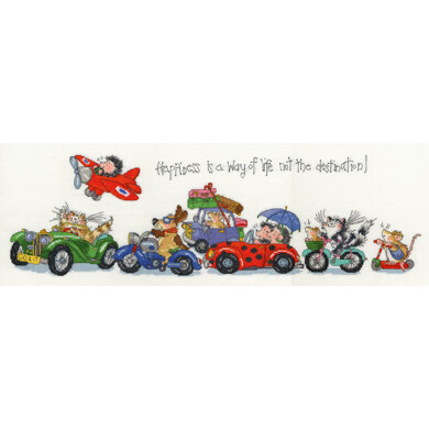 Bothy Threads Happiness is a Way of Life Cross Stitch Kit - 60cm x 20cm