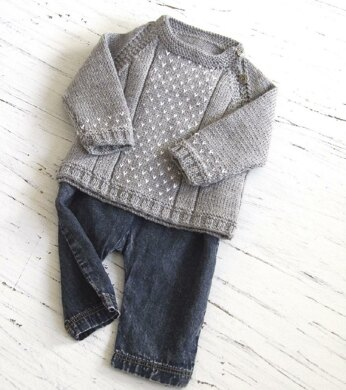 Baby round neck, side opening sweater