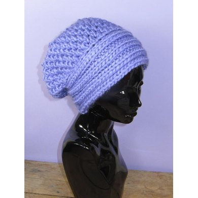 Super Chunky Rib Band Lace Slouch Hat