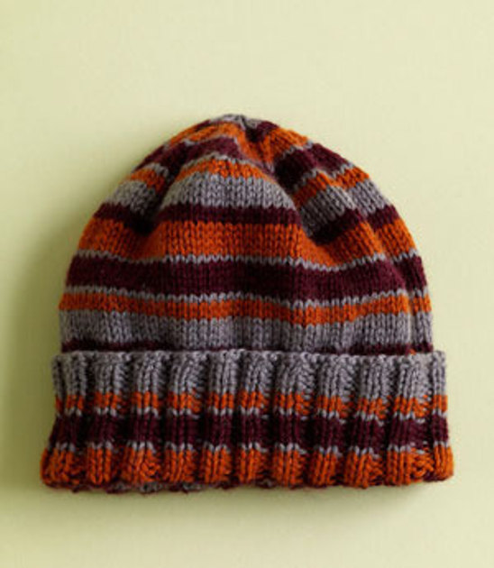 House Colors Hat In Lion Brand Superwash Merino Cashmere