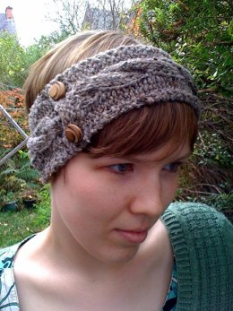 Tweedy Cabled Headband