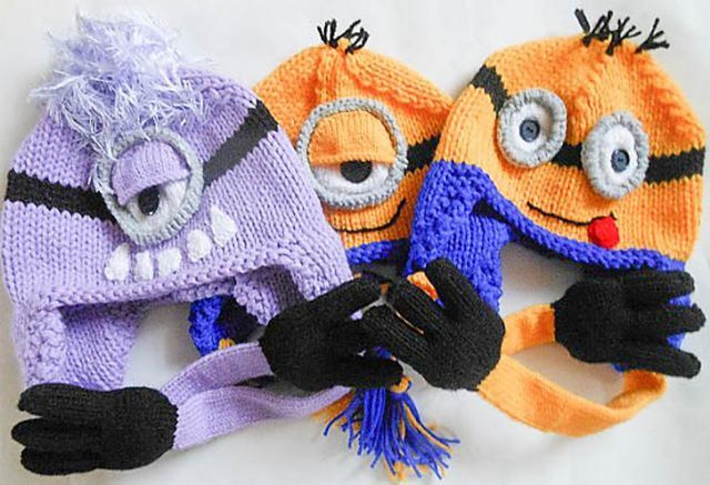 Minion Character Hat Knitted Version Knitting pattern by Wistfully ... 0d0738b9358