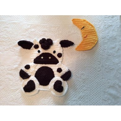 Baby Cow Wall Hanging for the Nursery