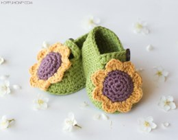 Sunflower Baby Booties
