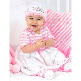 Sweet Baby Outfit in Bernat Baby Coordinates Solids