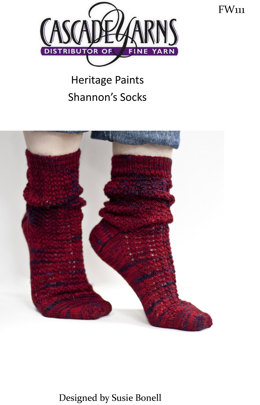 Shannon's Socks in Cascade Heritage Paints - FW111