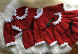 Santa Baby Dress & Cardigan Set N 338