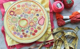 Dropcloth Samplers Sunshine Embroidery Kit