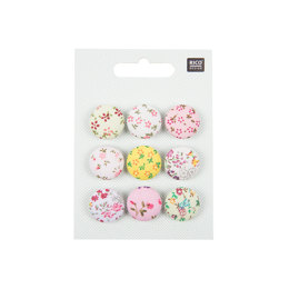 Rico Fabric Buttons Floral