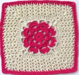 "Winter Rose - 12"" Square"