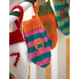 Advent Mini Mittens in Bernat Satin