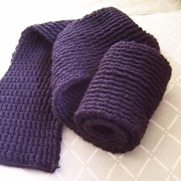 Men's Double-Ribbed Scarf