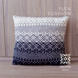 Flen Cushion Cover in MillaMia Naturally Soft Merino - Downloadable PDF