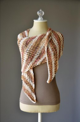 Desert Scarf in Rozetti Yarns Lumen Multi - 1004 - Downloadable PDF