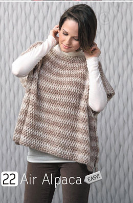 Poncho in Katia Air Alpaca