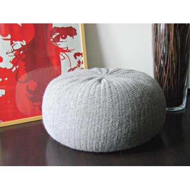 Diy Tutorial Xxl Large Knitted Pouf Poof Ottoman