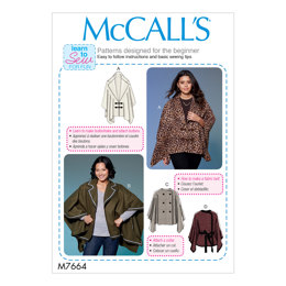 McCall's Misses' Capes and Belt with Closure Options M7664 - Sewing Pattern