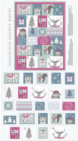 Craft Cotton Company Woodland Christmas Advent Calendar Panel - 260606
