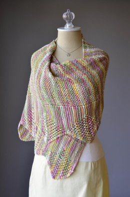 Solitaire Stole Shawl in Rozetti Yarns Lumen Multi - 1096 - Downloadable PDF