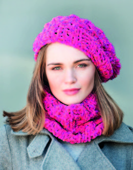 Hat and Cowl in Robin Firecracker Super Chunky - Downloadable PDF