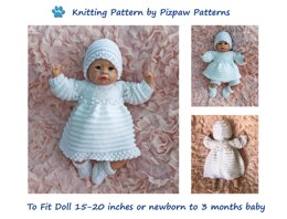 Angel Top & Dress Set (60) for Doll or Baby