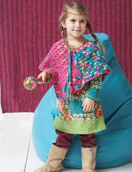 Peacenik Poncho in Bernat Handicrafter Cotton Solids