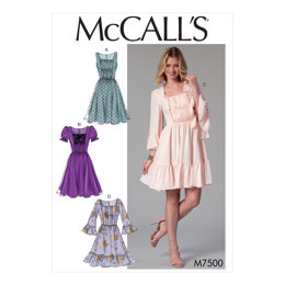 McCall's Misses' Gathered and Ruched Dresses M7500 - Sewing Pattern