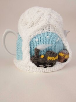 Christmas Steam Train Tea Cosy Knitting Pattern