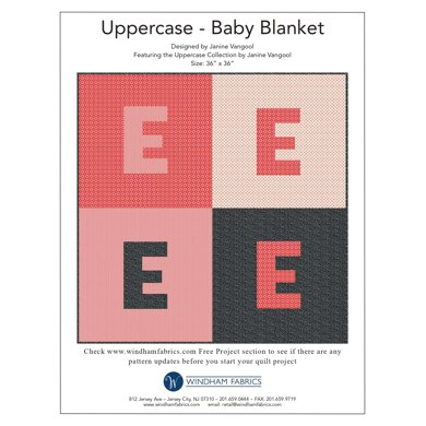 Windham Fabrics Uppercase Baby Blanket - Downloadable PDF