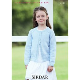 Girl's Cardigan in Sirdar Country Style DK - 2436