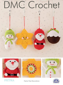 Festive Tree Decorations in DMC Petra Crochet Cotton Perle No. 3 - 15328L/2