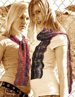 Color Ripple Scarf in Knit One Crochet Too Ty-Dy Cotton - 1688