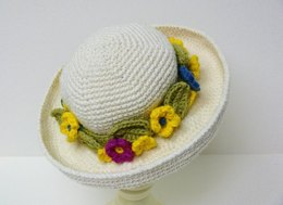 Girl Womens Curved Wide Brim Sun Hat