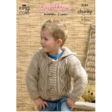 Jackets in King Cole Comfort Chunky - 3181