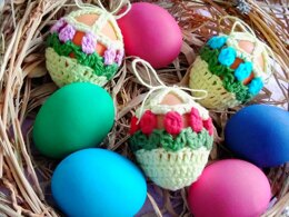 Flower Decor For Easter Eggs