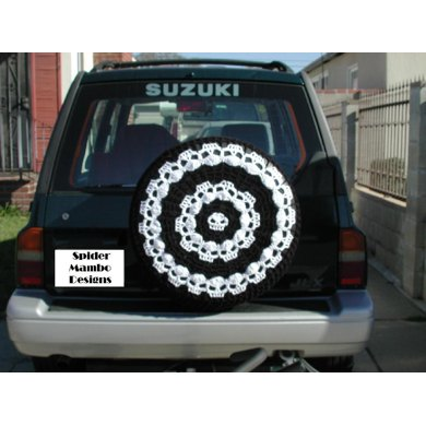 Wikked Wheels Skull Spare Tire Cover