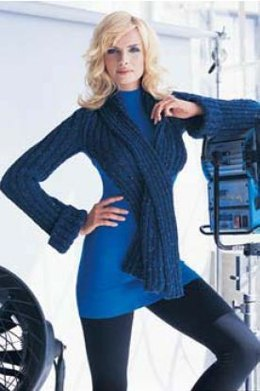 Donegal Ribbed Shrug with Attached Scarf Tahki Yarns Donegal Tweed