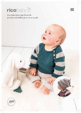 Jumper and Hat in Rico Baby Cotton Soft DK - 992 - Downloadable PDF