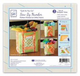 June Tailor Inc Quilt As You Go Utility Shoppers Totes - 3pk