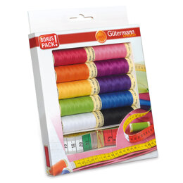Gutermann Thread Set: Sew-All:  10 x 100m: with Measuring Tape
