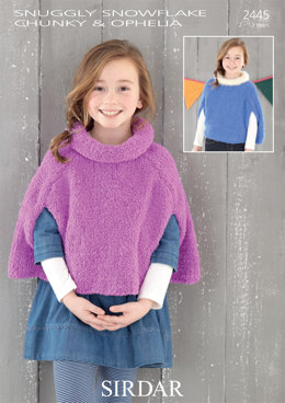 Cape in Sirdar Snuggly Snowflake Chunky and Ophelia - 2445