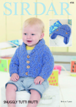 Cardigan and Helmet in Sirdar Snuggly Tutti Frutti - 4735 - Downloadable PDF