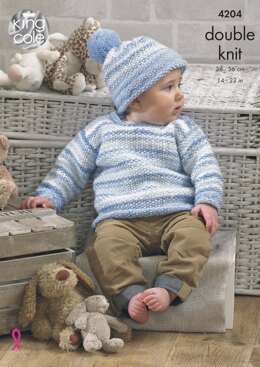 Baby Set in King Cole DK - 4204 - Downloadable PDF