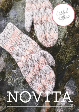 Cabled Mittens in Novita 7 Veljestä - 50 - Downloadable PDF