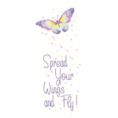 Heritage Spread Your Wings Cross Stitch Kit - 9cm x 21