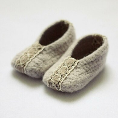 Felted Ballet Flats (baby -...