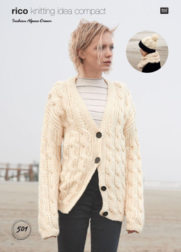Cardigan, Snood and Hat in Rico Fashion Alpaca Dream - 501 - Downloadable PDF
