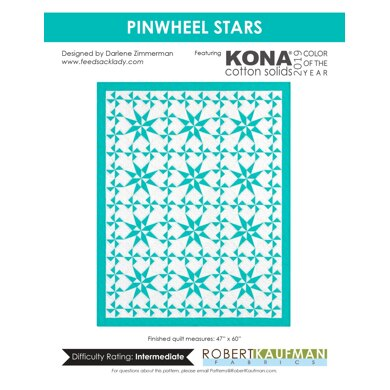 Robert Kaufman Pinwheel Stars - Downloadable PDF