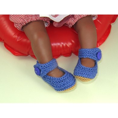 Baby Garter Stitch Ankle Strap Sandals Booties